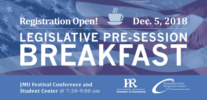 Legislative Pre-Session Breakfast 2018 @ JMU Festival Conference & Student Center | Harrisonburg | Virginia | United States