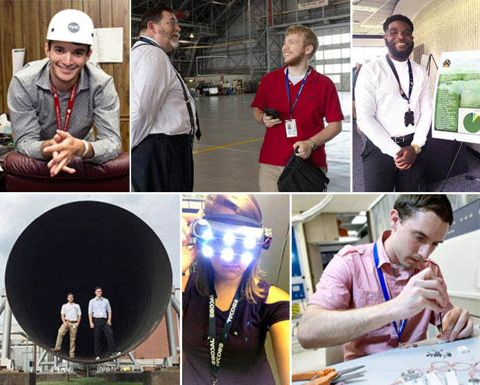 Virginia STEM internships photo collage